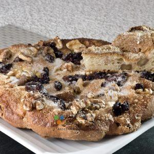 coca de pasas y nueces panadería sin gluten baking free