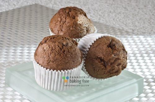 Magdalenas Chocolate panadería sin gluten baking free