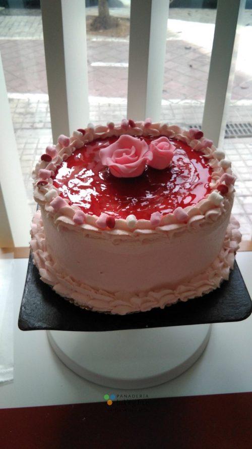 tarta de fresa panadería sin gluten baking free