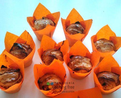 Muffin de Manzana sin huevo panadería sin gluten baking free