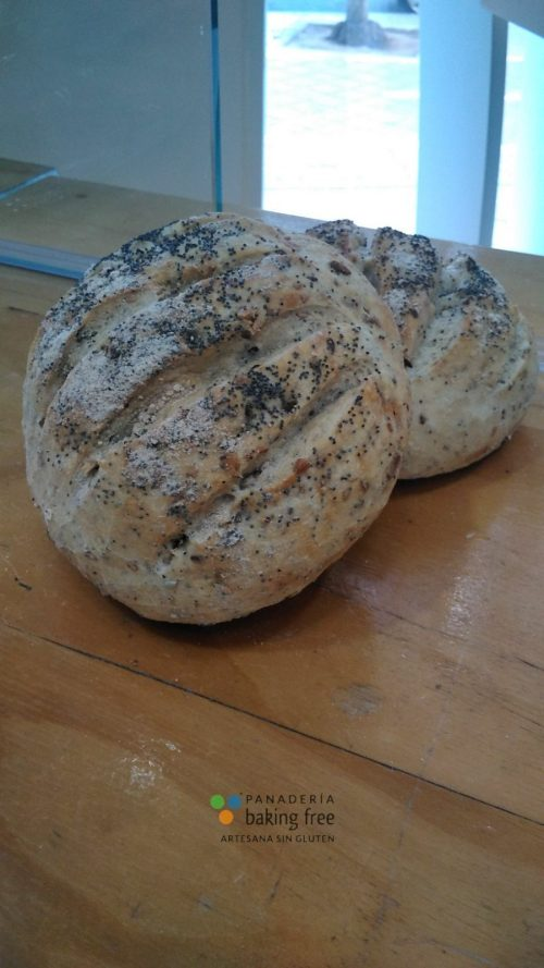 pan rústico semillas panadería sin gluten baking free