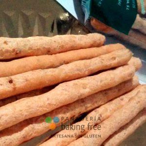 Rosquilletas sin gluten sobrasada y cebolla panadería sin gluten baking free